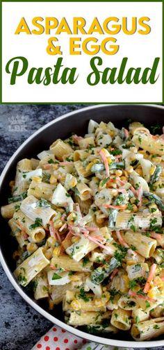 Asparagus Pasta, Asparagus Recipe, Fresh Asparagus, Broccoli Salad, Chicken Salad Recipes, Pasta Recipes, Recipe Pasta, Noodle Recipes, Gourmet