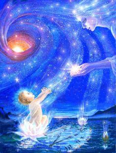 Cosmic Art, Divine Mother, Angel Pictures, Angel Art, Visionary Art, Sacred Art, Psychedelic Art, Light Art, Sacred Geometry