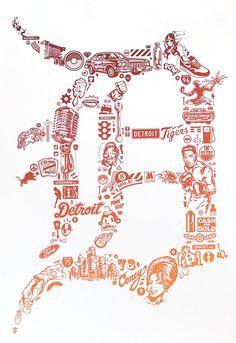 Old English D - Representing Detroit! Detroit Rock City, Detroit Sports, Detroit Tigers Baseball, Detroit Logo, Detroit Houses, Metro Detroit, State Of Michigan, Detroit Michigan, Michigan Accent