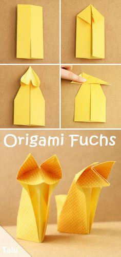 Origami Fuchs falten - Anleitung für Anfänger - Talu.de