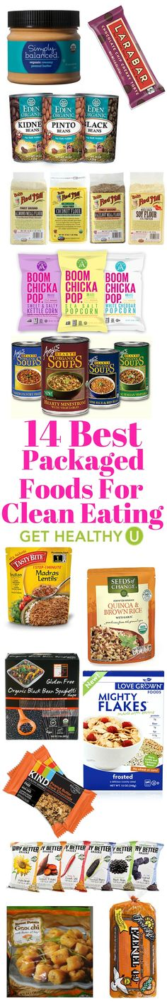 When convenience becomes the number one priority, you won't have to sacrifice your health. Here are our 14 favorite packaged foods you can actually eat!