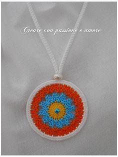 https://www.facebook.com/Creare-con-passione-e-amore-702710239765140/ #crearecon passioneeamore #handmade #handmadeinitaly #uncinetto #crochet #mandala #collana #fattoamano #estate #summer #necklace