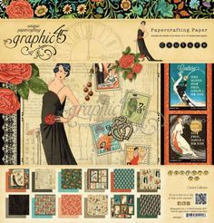 Graphic 45 - Couture Collection - 12 x 12 Paper Pad . Want this and all that goes with it!!