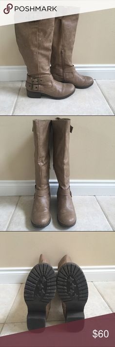 NEW! Tan boots Knee high, tan boots, new, never worn Shoes