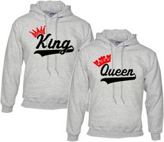 King and Queen Matching #Hoodie