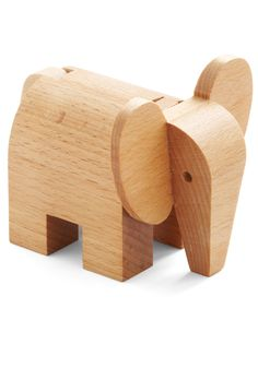 Wooden elephant toy