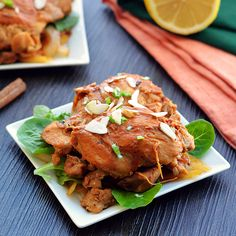 Slow Cooked Moroccan Chicken - Paleo Fondue #paleo #primal #whole30
