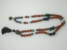 Amazon.com: Prayer Mala Beads Hematite Rudraksha Crystals Japa Mala Meditation: Tarini Jewels: Jewelry