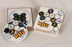 Hive. $20 on mini. 2 player. similar to chess. no board.