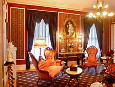 "The Knights of Kentucky Suite - Samuel Culbertson Mansion, Louisville, KY   It was formerly the suite of rooms occupied by the real-life ""Two Little Knights of Kentucky"" from Annie Fellows Johnston's Little Colonel, an American classic series of stories of aristocratic life in old Kentucky."