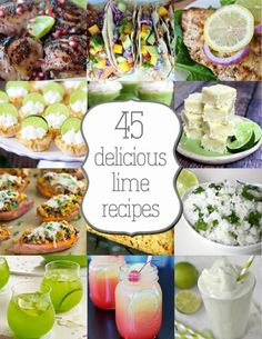 45 Delicious Lime Recipes - yummy!  You'll want to try all of these!  From www.overthebigmoon.com!