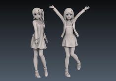 3d anime zbrush sculpt models for figure