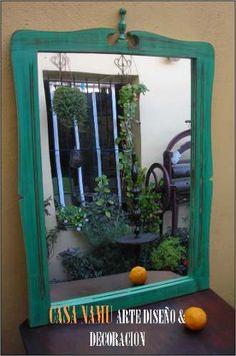 Espejos Patinados Decapados Frances Ingles Luis Casa Namu!! - $ 799,00