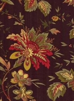 Felicite Noir - cotton up the roll jacobean floral traditional print. Design Textile, Textile Patterns, Print Patterns, Motif Floral, Floral Prints, Jacobean Embroidery, Art Chinois, Golden Pattern, Art Japonais