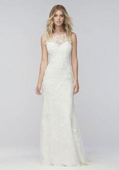 Wtoo Brides lace gown with sweetheart neckline, sheath silhouette, and floral lace embellishments I Style: Stella 16107 I https://www.theknot.com/fashion/stella-16107-wtoo-brides-wedding-dress?utm_source=pinterest.com&utm_medium=social&utm_content=aug2016&utm_campaign=beauty-fashion&utm_simplereach=?sr_share=pinterest