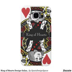 King of Hearts Design Samsung Galaxy S6 Cases