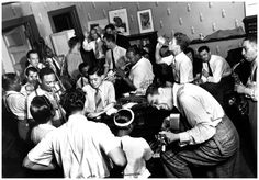 Duke Ellington, Dave Tough, Hot Lipps Page, Billie Holiday, Ivie Anderson, Pee Wee Russell, Johnny Hodges, and Chu Berry 1939