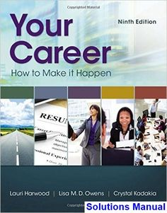 Canadian human resource management canadian 11th edition schwind your career how to make it happen 9th edition harwood solutions manual test bank fandeluxe Gallery
