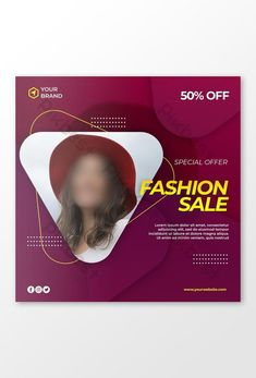 Modern fashion sale banner or square flyer for social media post#pikbest# Cover Template, Sale Banner, Fashion Sale, Social Media Design, Banner Design, Modern Fashion, Find Image, Photoshop, Templates
