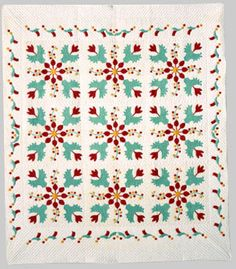 Flowering Almond Quilt  Betty Harriman (1890 -1971), piecer; Mary Schafer (b. 1910), quilter  1968-1971