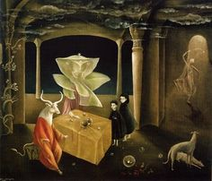 The sister of the Minotaur , Leonora Carrington , 1953