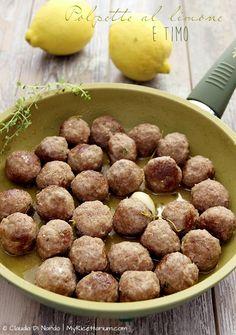 My Ricettarium: Polpette al limone e timo