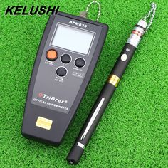 KELUSHI fiber optical power meter with 5mW pen type visual fault locator fiber cable tester with fc sc fc adapter 2 in 1 tester #Affiliate
