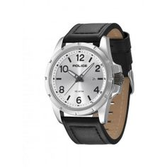 Police - Men's Boston Black Leather Strap Watch - 13828JS-04  Online price: £89.00  www.lingraywatches.co.uk Police Watches, Omega Watch, Chronograph, Boston, Black Leather, Online Price, Accessories, Black Patent Leather, Jewelry