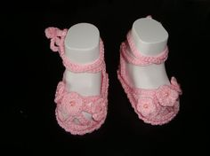 Newborn Baby Girl Shoes Booties Sandals by CrochetCafeNicOlZA