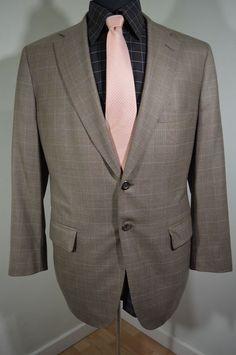 MINT Holland & Sherry For Chris Sweeney mens windowpane sport coat blazer 41R   #MintHollandandSherryforChrisSweeney #TwoButton