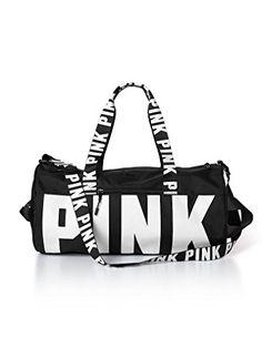 68882a3ebf4d Victorias Secret PINK Gym Duffle Bag Pure Black       AMAZON BEST BUY