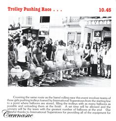 Weymouth Carnival trolley push race 1980