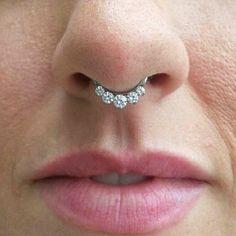 14 or 16 Gauge Aqua Blue Crystal Septum Ring by MidnightsMojo