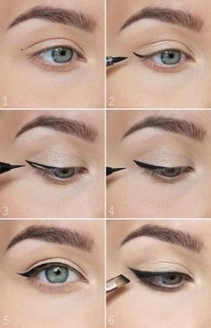 Eye Makeup Eyeliner Liquid Liner Make Up 63 Ideas Winged Eyeliner Tricks, Perfect Winged Eyeliner, Eyeliner Make-up, Eyeliner For Beginners, Makeup Tutorial Eyeliner, Eyeliner Hacks, Makeup Tips For Beginners, Winged Liner, Tips For Eyeliner