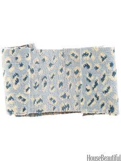 Muzat Velvet by Travers from zimmer-rohde.com. housebeautiful.com. #velvet #cheetah #leopard #animal_print #fabric