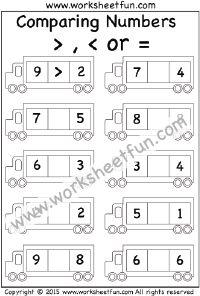 Összehasonlítva számok - 2 munkalapok