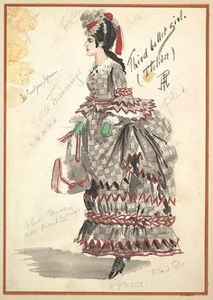 Costume Design for 'Third Ballet Girl (Italian)' Percy Anderson  (British, 1850/51–1928 London) Date: 1901 Medium: Watercolors over graphite...
