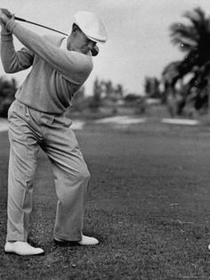 Premium Photographic Print: Golfer Ben Hogan, Keeping His Shoulders Level at Top of Swing by J. R. Eyerman : 24x18in