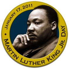 Martin Luther King Jr. Day  Round Holiday Custom Button - Photo Button - Affordable Buttons - Pinback Button - Pin