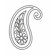Are you looking for Outline paisley embroidery design? Check out this outline and beautiful paisley embroidery from embroideryshristi Motif Paisley, Paisley Embroidery, Paisley Art, Crewel Embroidery Kits, Embroidery Stitches Tutorial, Bead Embroidery Patterns, Hand Embroidery Designs, Paisley Design, Paisley Pattern