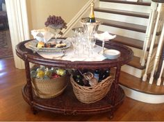 Welcoming serving cart. Nell Hill's