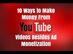 10 ways to make money from YouTube videos besides ad monetization. Go to http://ift.tt/2iGcYUS for video notes related content and all helpful resources mentioned.  Let's Connect! Twitter - https://twitter.com/MrJustinBryant  Facebook -  http://ift.tt/1LQomnx  Google - http://ift.tt/1PaQTrN  In this video I will show you 10 ways to make money from YouTube videos besides ad monetization from Google Adsense. Many people make a lot of money from YouTube ads but you have to get hundreds of…