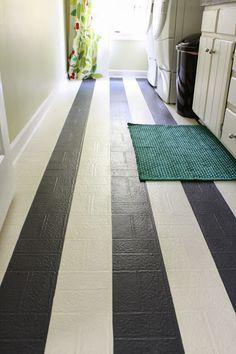 ricochet and away!: i painted my vinyl floor   refurbishing