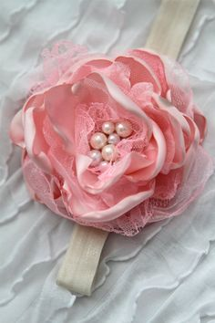 perfectly pink lace headband by londonraquel on Etsy, $14.99