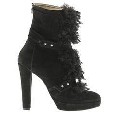 SUEDE FAUX-FUR ANKLE BOOT, they are made of leather. Its derive from animal body. I want them if they will be made of cruelty free material