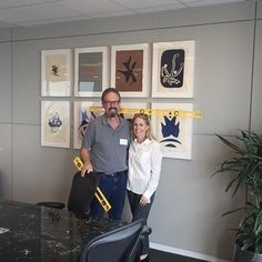 A great art installation requires the finest installer, so with me is Tony Lucas. And of course one very levelheaded art consultant. This fabulous suite of Georges Braque lithographs is the focal point of the board room at the law firm of a DTLA law firm in the US Bank tower. #artwatchers #georgesbraque #dtla #artinstallation #artconsultant #visualsoflife #corporateart #interiors #modernart #artsy