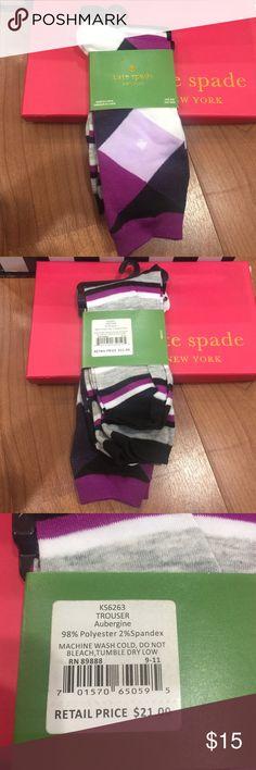 Kate Spade Kate Spade New York trouser Aubergine (socks) 2 pairs kate spade Intimates & Sleepwear