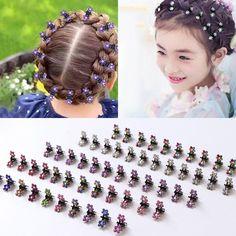 Girls' Baby Clothing Small Knitting Flower Hair Clips Elastic Hair Bands Kids Baby Hairpin Girls Knitted Yarn Hair Pins Headwear Hair Accessories