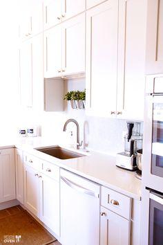 White Kitchen Remodel   gimmesomeoven.com #kitchen #remodel #white