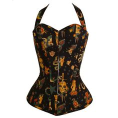 Made To Measure Tattoo Steel Boned Corset  by GinAndSinEtsy, £180.00